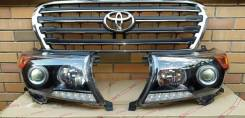 Решетка на фары. Toyota Land Cruiser, UZJ200W, VDJ200, J200, GRJ200, URJ200, UZJ200 Двигатели: 1VDFTV, 3URFE, 1GRFE, 2UZFE