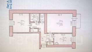 2-комнатная, улица Титова 62. частное лицо, 51 кв.м.