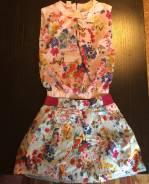 Новый комплект: юбка, блузка, ветровка. Рост: 116-122 см