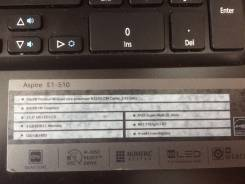 "Acer Aspire E1-510. 15.6"", 2,4ГГц, ОЗУ 4096 Мб, диск 500 Гб, WiFi, аккумулятор на 4 ч."