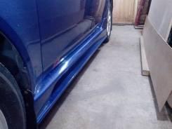 Порог пластиковый. Mitsubishi Lancer X