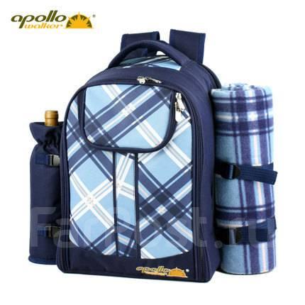 Рюкзак для пикника с набором посуды и плед эргорюкзак минск