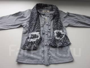 Кофта с шарфиком на девочку 3-5л весна. Рост: 98-104, 104-110 см