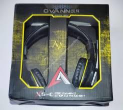 Классные игровые геймерские наушники Ovann X5-C с микрофоном!