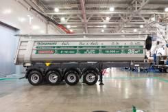 Grunwald. Самосвальный полуприцеп Gr-TSt 38 4 axle, 42 000 кг.
