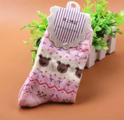 Тёплые носочки с шерстью, Япония. Новые! С рубля!