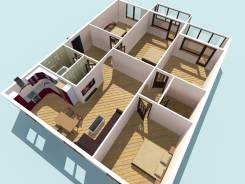 5-комнатная, улица Жигура 48. Третья рабочая, агентство, 90 кв.м. План квартиры