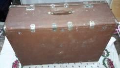 Фибровый раритетный огромный дорожный чемодан! Торги с рубля!. Оригинал