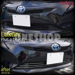 Накладка на решетку бампера. Toyota Prius, ZVW50, ZVW55, ZVW51. Под заказ