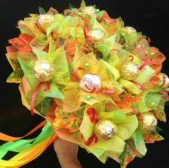 Сладкие букеты из конфет, оформление шампанского к любому торжеству.
