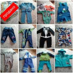 Продам детские вещи от 0-6 месяцев. Рост: 50-60, 60-68, 68-74 см