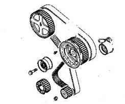 Ремкомплект системы газораспределения. Mitsubishi: Mirage, Carisma, Delica Space Gear, Lancer Cedia, Sigma, Toppo BJ Wide, Legnum, Dion, Challenger, G...