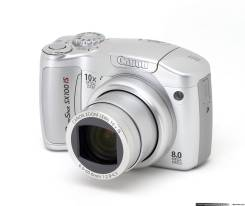 Canon PowerShot SX100 IS. 8 - 8.9 Мп, зум: 10х