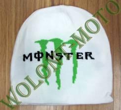 Шапка бело зеленый Monster