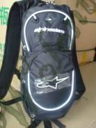 Рюкзак с поилкой Черный с белым Alpinestars