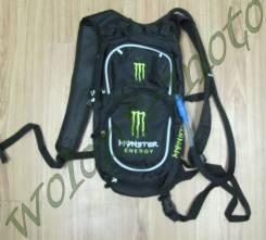 Рюкзак с поилкой Черный с зеленым Monster