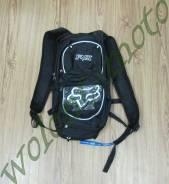 Рюкзак с поилкой Черный с белым FOX