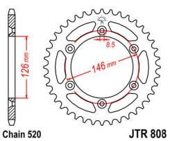 Задняя звезда JT Suzuki JTR808-49