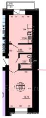 1-комнатная, улица Карла Маркса 144а/3. Железнодорожный, агентство, 41 кв.м.