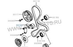 Натяжитель ремня ГРМ. Mitsubishi L200 Mitsubishi Pajero Sport Двигатели: 2, 5, COMMON, RAIL