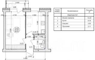 1-комнатная, Трехгорная. Краснофлотский, агентство, 28 кв.м.