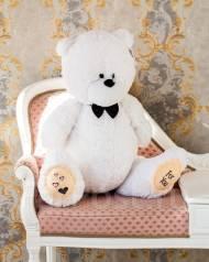 """Плюшевый медведь """"Тедди"""" 80 см (белого цвета)"""