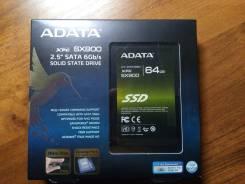 SSD 2,5 дюйма. 64 Гб, интерфейс SATA 2.5