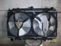 Радиатор охлаждения с вентиляторами. Nissan Primera, WQP11 Двигатель QG18DE