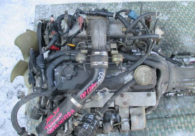 Двигатель в сборе. Nissan Terrano Regulus Двигатели: QD32TI, QD32ETI