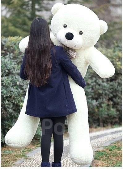Большой мягкий Плюшевый медведь 150 см 4 цвета 760 шт всегда есть