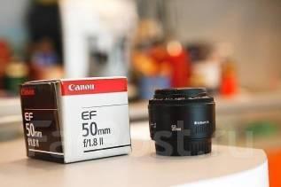 Объектив Canon EF 50mm F1.8 II. Для Canon, диаметр фильтра 52 мм