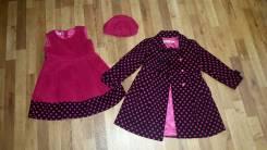 Пальто (комплект ) на девочку 5-6 лет. Рост: 110-116, 116-122 см