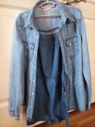 Комбинезоны джинсовые. Рост: 128-134, 134-140 см