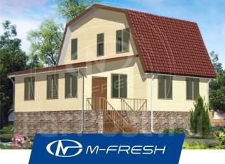 M-fresh Flagman (Проект эконом дома с 5 комнатами! Посмотрите! ). 100-200 кв. м., 1 этаж, 5 комнат, дерево
