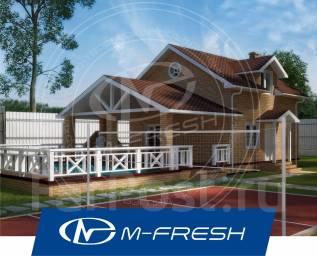 M-fresh Miranda (Проект бани с жилой мансардой! Посмотрите сейчас! ). 100-200 кв. м., 1 этаж, 3 комнаты, бетон