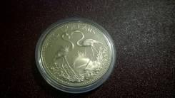 Багамские о-ва Багамы 2 доллара 1974г. UNC (большая монета)