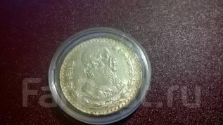 1 песо 1965 Мексика Хосе Павон серебро R aUNC