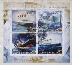 2011 Гвинея-Бисау. 100-летие гибели Титаника. Блок. Гашеный