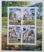 2013 Нигер. Жирафы. Блок Гашеный
