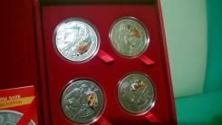 Беларусь 2009 г 20 рублей ТРИ Мушкетера серебро 4 монеты !