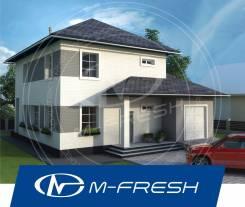 M-fresh Gabriel (Свежий проект дома со встроенным гаражом! Супер! ). 200-300 кв. м., 2 этажа, 4 комнаты, бетон