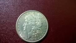 """США 1 доллар 1878 г. """"S"""" Морган Серебро"""