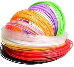 Пластик 3D PLA 1.75мм для принтера и 3D ручки безопасен для детей