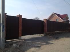 Забор из профлиста от 1800 руб. /м. п, откатные, ворота от 30 000 рублей