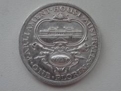 """Австралия флорин 1927 г. """"Парламент"""". Серебро. Торги с 1 рубля!"""