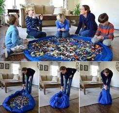 Сумка-ковер для игрушек Toy Bag диаметр 150 см цв. сине-красный