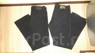 Двое добротных мужских штанов: джинсы и утепленные на флисе! С рубля!. 50, 52