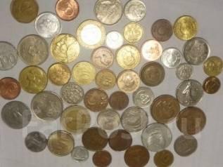 Набор из 50-ти монет разных стран мира.