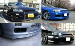 Накладка на бампер. Nissan Skyline, BNR34, ENR34, ER34, HR34