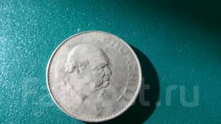 1 крона 1965 года. Великобритания . Черчиль. Очень большая монета !